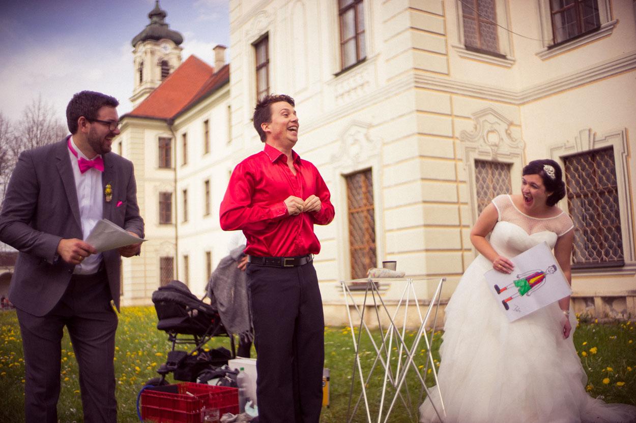 Zauberei bei einer Hochzeitsfeier