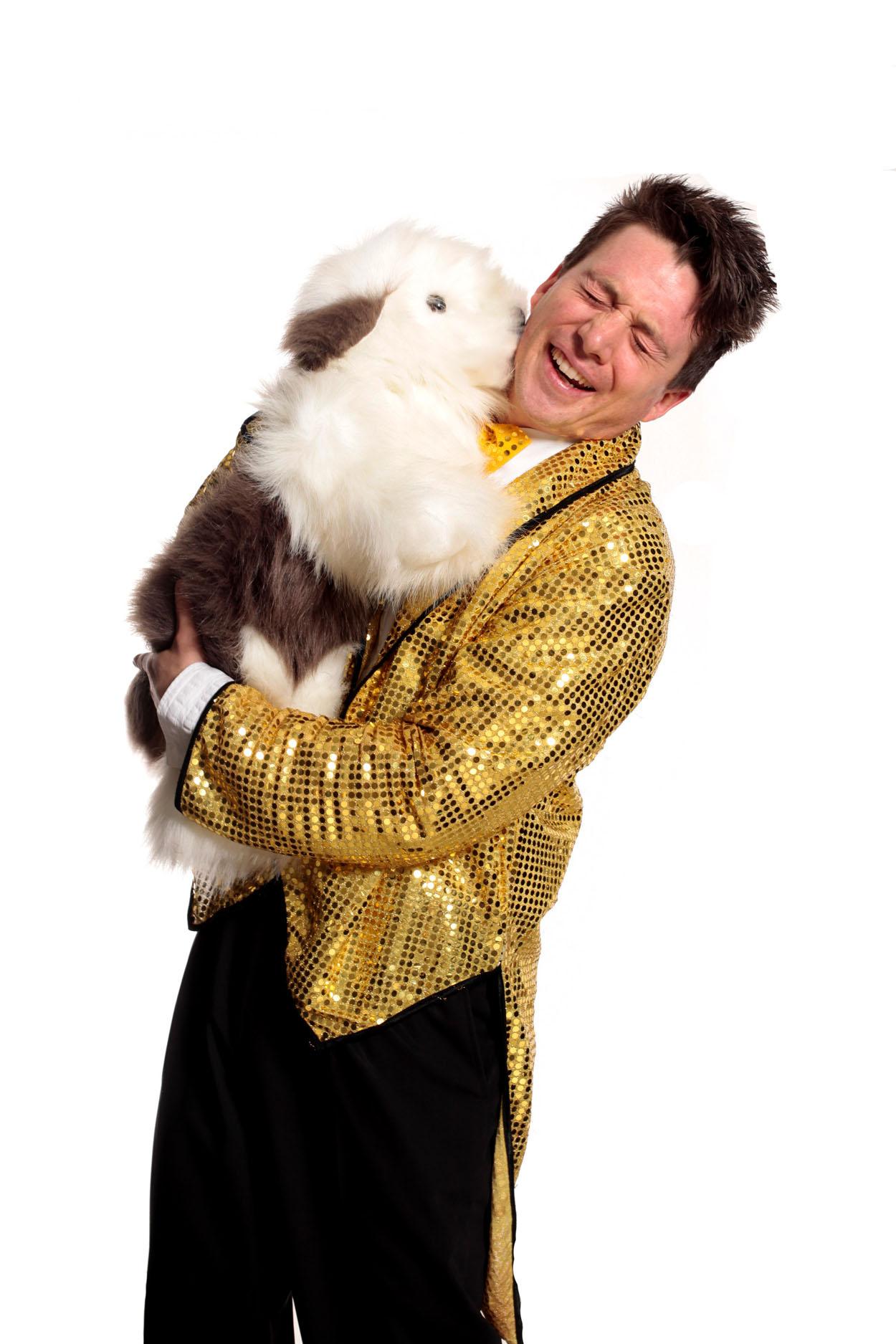 Der lustige Hund von Zauberer Magic Martin